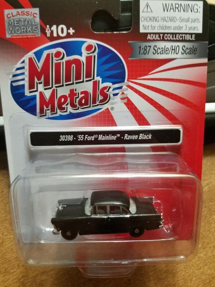 Mini Metals HO scale 55 Ford Mainline Raven Black