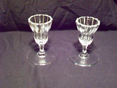 Two Waterford Marquis Crystal Votives Marked