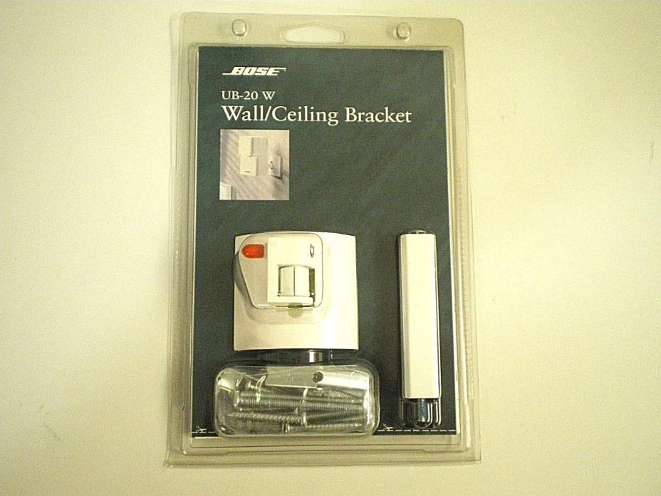 New! BOSE UB-20 W White Wall / Ceiling SPEAKER BRACKET For Acoustimass Lifestyle