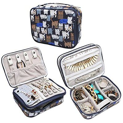 Jewelry Boxes Travel Organizer Case, Storage Bag Holder For Necklace, Earrings,