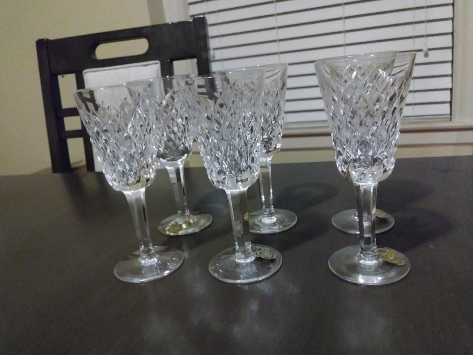 WATERFORD Crystal ALANA 6 glasses.     5