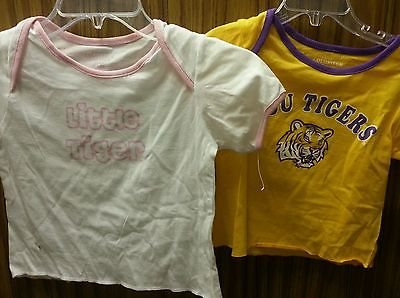 LSU Tigers kids lot of 2 shirts size 6-12 month and 12-18 month both NWT