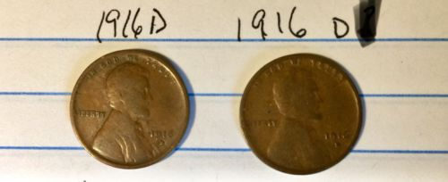 1916-D (lot of 2) US Coins Lincoln Wheat Cent Penny One Cent