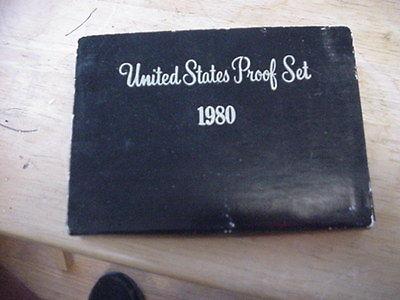 1980 UNITED STATE PROOF SET W SIX COINS W BOX SAN FRANCISCO