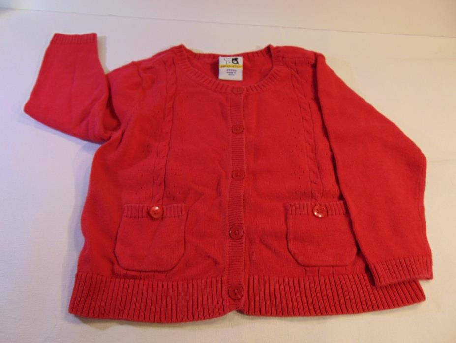 Sprockets Cable Knit Cardigan Red With 2 Pockets Infants Size 24 Months