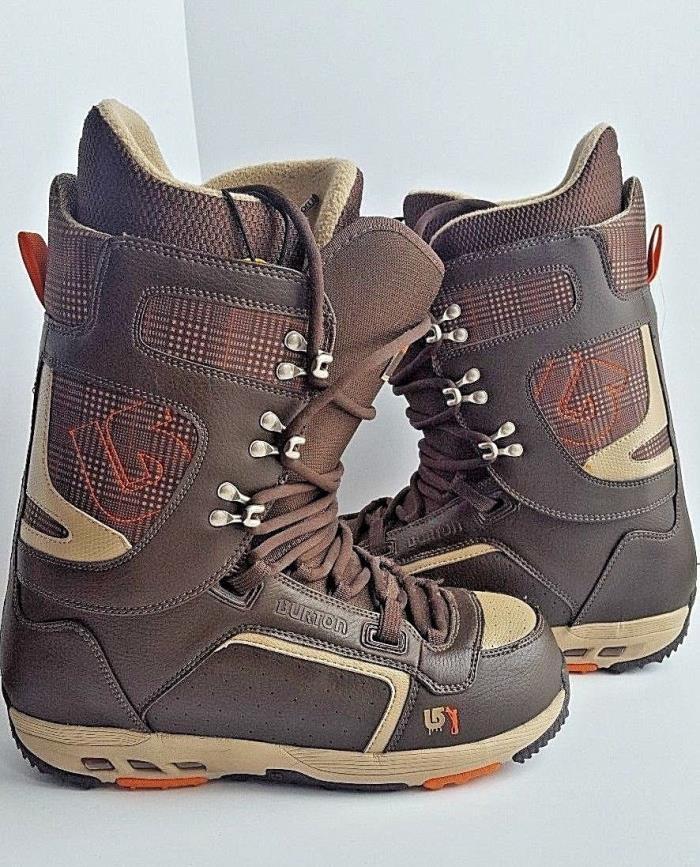 Men's Burton HAIL Imprint 3 Snow Board Boots Brown/Tan plaid Size 11.5 LikeNw!!