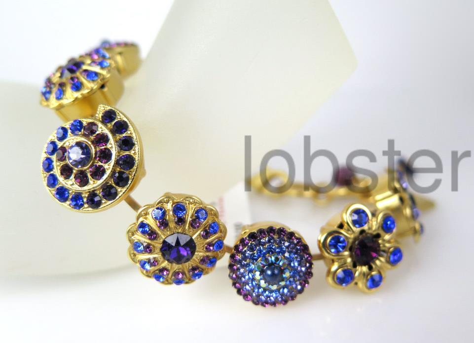 STUNNING MARIANA HAPPY HOUR MOSAIC GOLD BRACELET Multicolor Swarovski Crystal