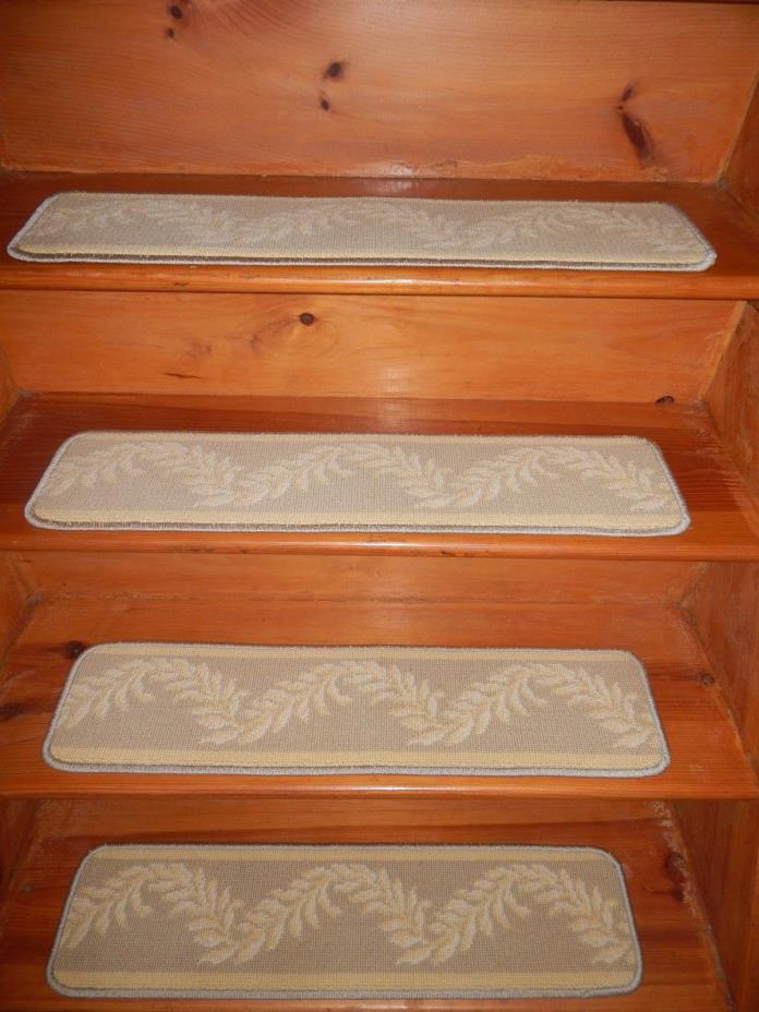 15= Step 7'' x 30'' Wool CARPET Andy's Collection Stair Treads LB 84