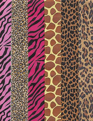Animal print grosgrain ribbon 1-1/2 in + 3/8 inch matching 1 yds each 12 total