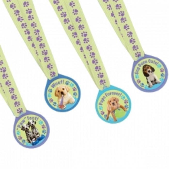 BULK Puppy Party Dog Ribbon Medallions (72 RIBBONS)
