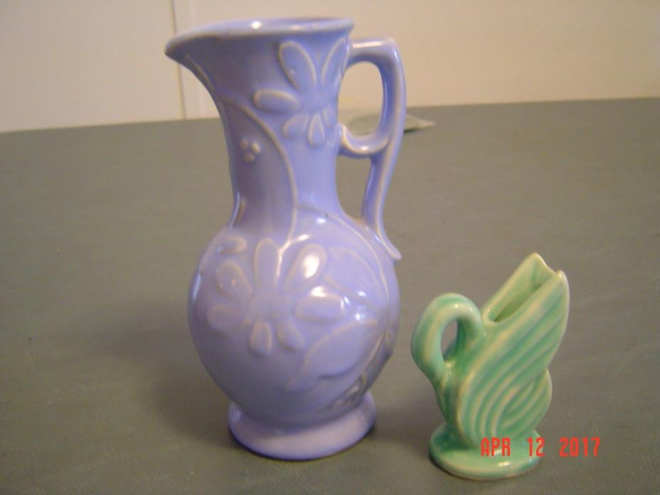 Vintage Miniature USA Pitcher & One Larger Vase/Pitcher