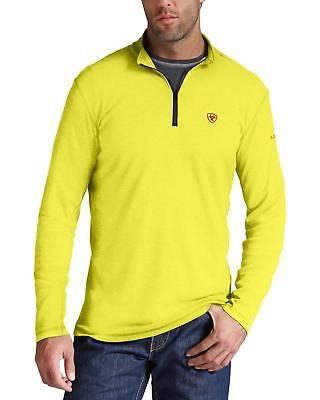 Ariat Men's FR Yellow Polartec HRC2 1/4-Zip Shirt - 10014891