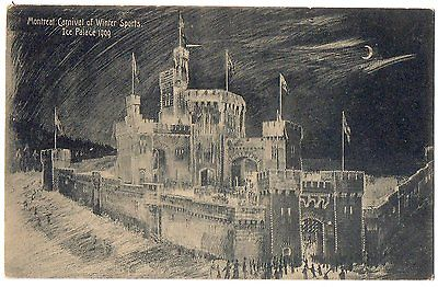 Ice Palace Montreal Carnival Of Winter Sports 1909 Vintage Postcard Canada