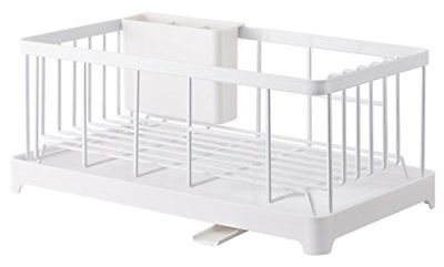YAMAZAKI home 2875 Tower Wire Dish Drainer Rack White Racks Holders Kitchen Bar