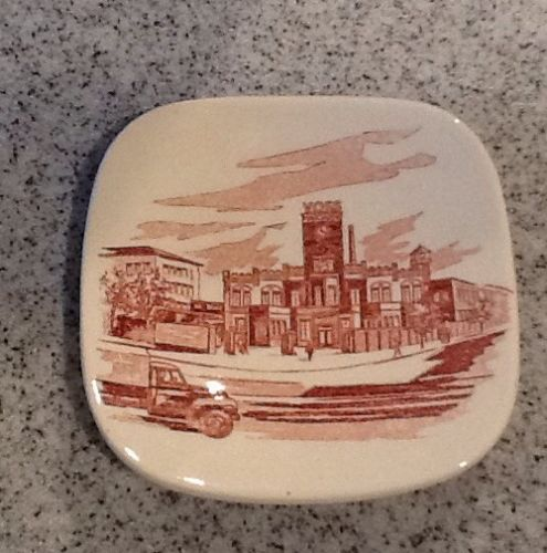 Vtg Hamburg Germany VOSS Margarine Manufacturing Plant small butter pat plate