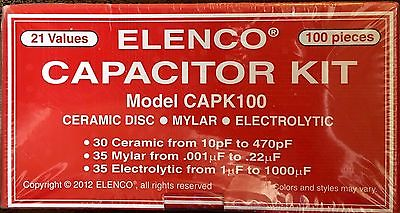 Elenco CAPK100 100 Capacitor Component Kit