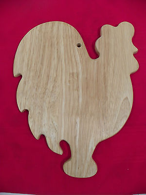 WOODEN ROOSTER SHAPED WALL DECOR TRIVET HOTPLATE Country Decor