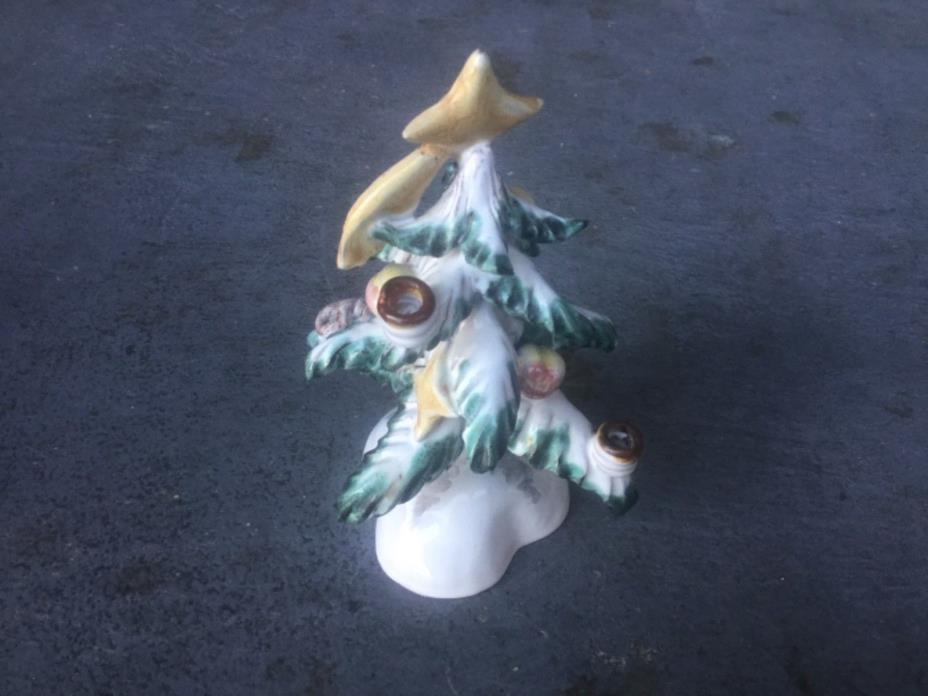 GOOD VINTAGE AUSTRIAN VIENNA LEOPOLD ANZENGRUBER POTTERY CHRISTMAS TREE