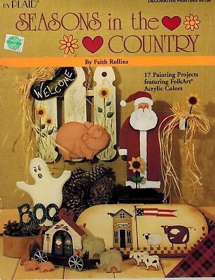 SEASONS IN THE COUNTRY Faith Rollins 17 Projects Decorative Painting BOOK - OOP
