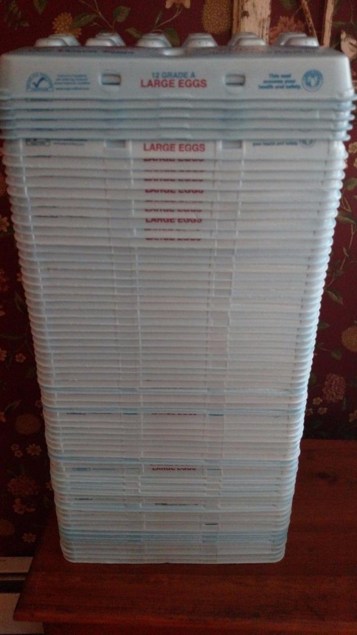 80 STYROFOAM EGG CARTONS 48 LARGE 32 X-LARGE DOZEN 12 COUNT CLEAN