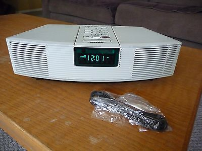 BOSE WAVE RADIO AWR1-1W White, W Remote control iPod cable  REFURBISHED CLEAN
