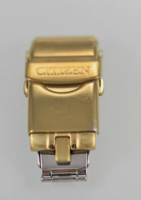 Citizen Stainless Steel Gold Men's Double Folding Clasp Watch Parts Repair
