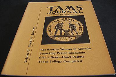 TAMS Token And Medal Society 1982 Unlocking Prison Exonumia, Token Trilogy +++