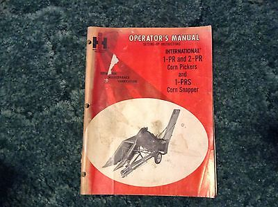 1018116R7 - is a New Original Operators Manual for a McCormick No. 1-PR Picker