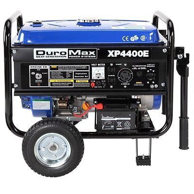 Portable Gas Generator Emergency 4400 Watt Home Jobsite Wheel Kit Electric Start