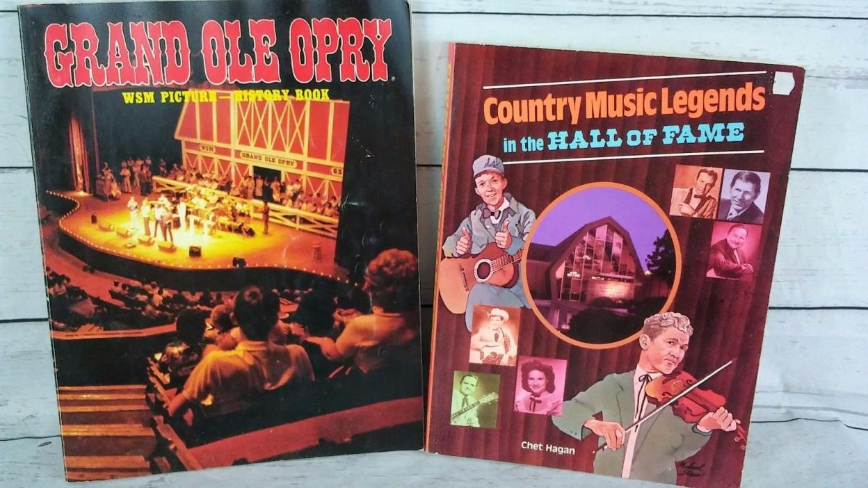 BOOK LOT OF COUNTRY MUSIC LEGENDS IN THE HALL OF FAME AND THE GRAND OLE OPRY HIS