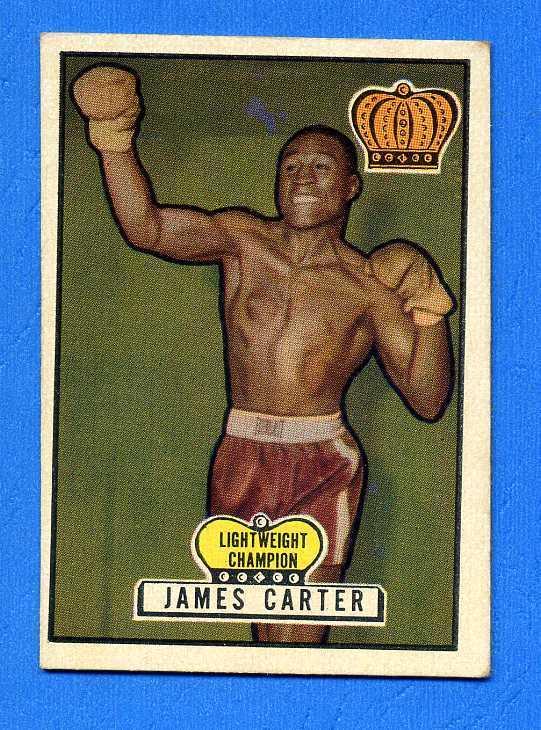 1951 Topps Ringside Boxing Card JAMES CARTER #15