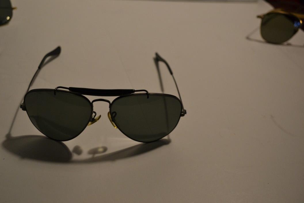 Ray-Ban Aviator Sunglasses, Black Metal Black Lenses