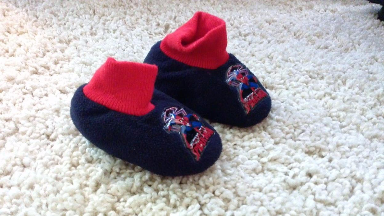 Toddler Childs Spiderman Slippers Size S (5-6)