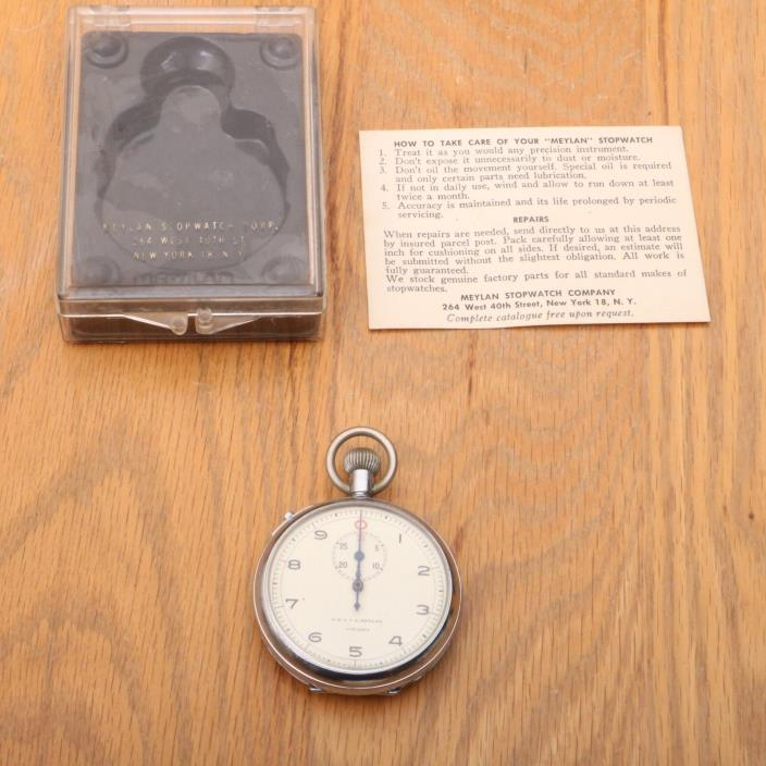 Vintage Meylan No 208A Swiss Made Timer Sports Stopwatch Not Working