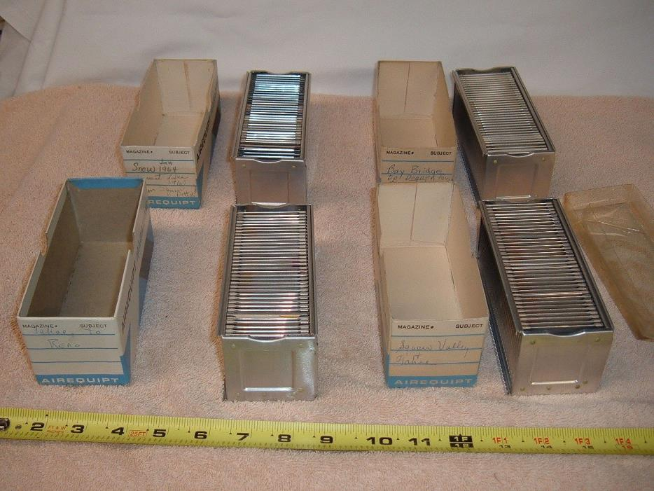 Vintage Airequipt Magazine TRAYS with slides