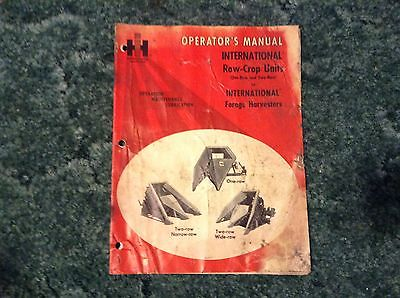 1083697R1 - a Used Original Operators Manual for an IH 1 Row, 2 row Crop Units