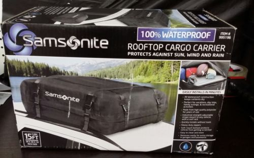Samsonite Car Rooftop Cargo Carrier 100% Waterproof 15 Cubic Feet of Cargo Space