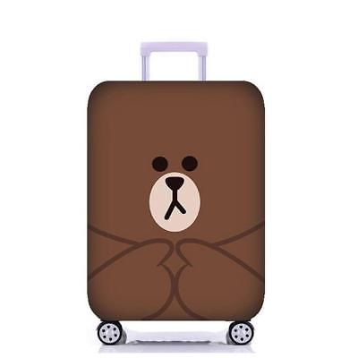Bear Face Luggage Cover