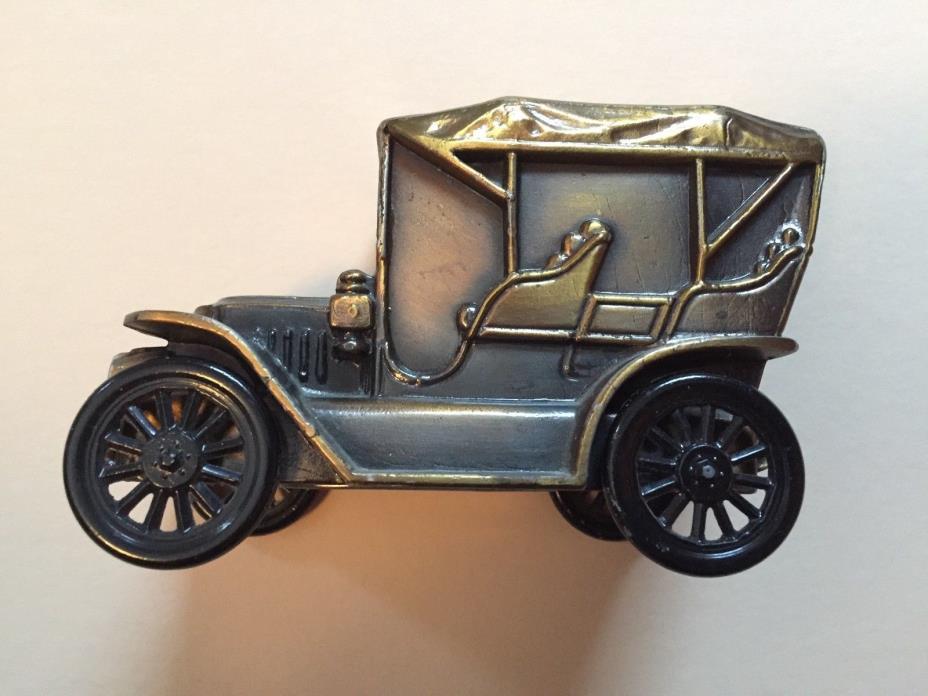 Vintage 1974 Banthrico Car Bank - 1910 Stanley Steamer, Bronze Finish