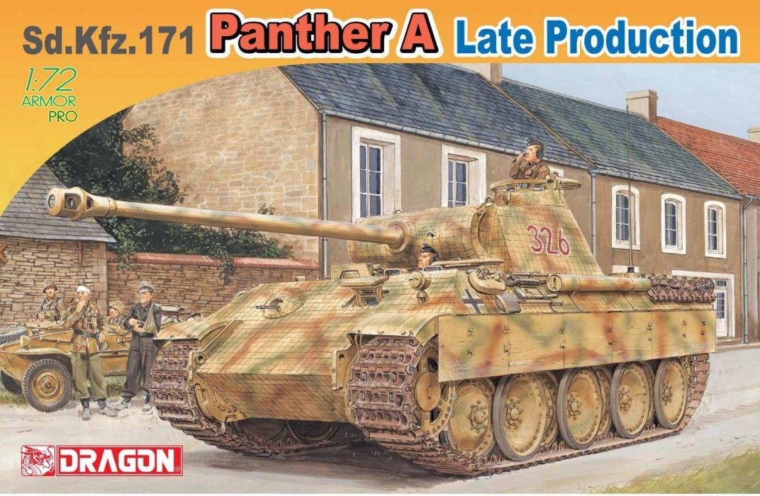 Dragon 7505  Sd.Kfz.171 Panther A Late Production  1/72