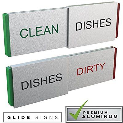 Refrigerator Magnets Dishwasher Clean Dirty Never Mix Dishes Quality Kitchen Day
