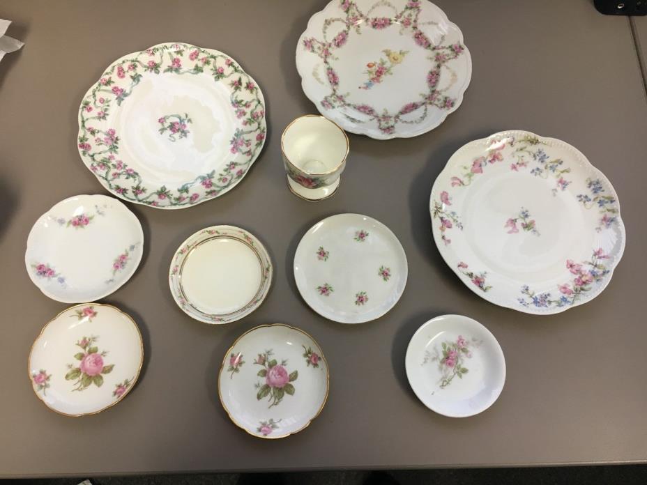 Mix set of 10 Fine Antique Floral China