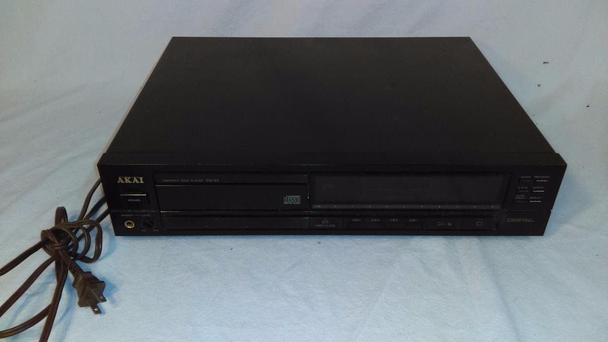 AKAI CD-52 Compact Disc Player, MFG 1988, TESTED!