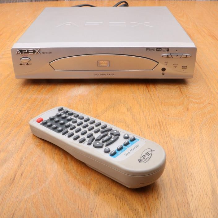 Apex AD-1010W DVD Player With Remote Tested Works