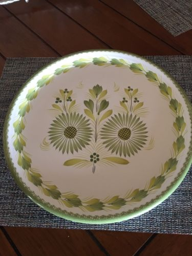 HB Henriot Quimper Large Green French Platter 14