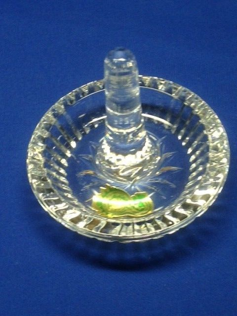 Waterford Crystal Ring Holder New in Box Signed with Papers