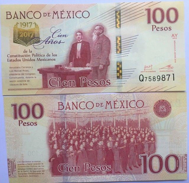 Mexico Banknote shredded real bill by Banco de Mexico souvenir 100 pesos