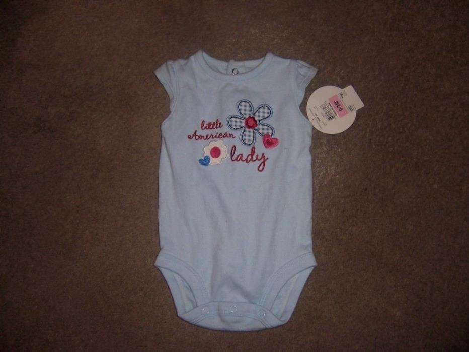 size 0-3 months just one year little american lady bodysuit new