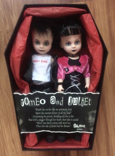 Mezco Living Dead Dolls ROMEO and JULIET Sid & Nancy Rare Punk Goth SET with box