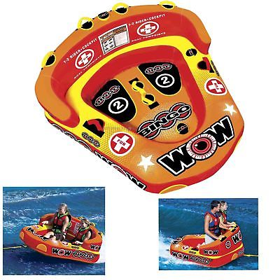 Wow 14-1060 Bingo 1 to 2 Person Towable Water Tube Toy Boat Cockpit Inflatable
